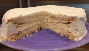 Frozen Vanilla Merengue Cake