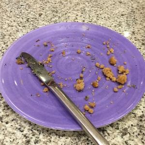 Blueberry cake eaten