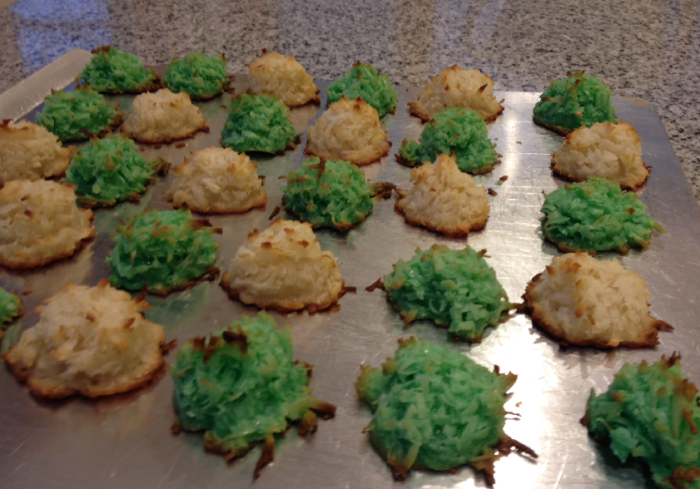 White & Green Macaroons
